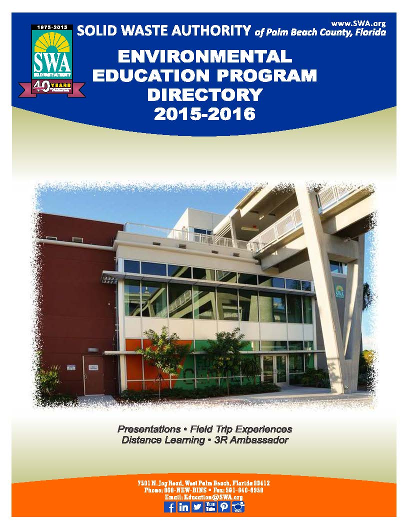 2015 Environmental Education Programs Booklet 2015-2016 Cover