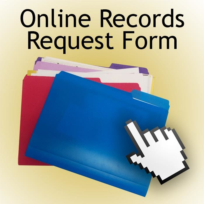 Records Request Form Button