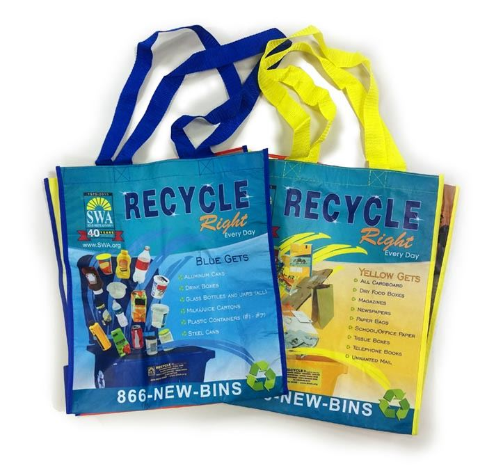 Blue and Yellow Apartment Bags