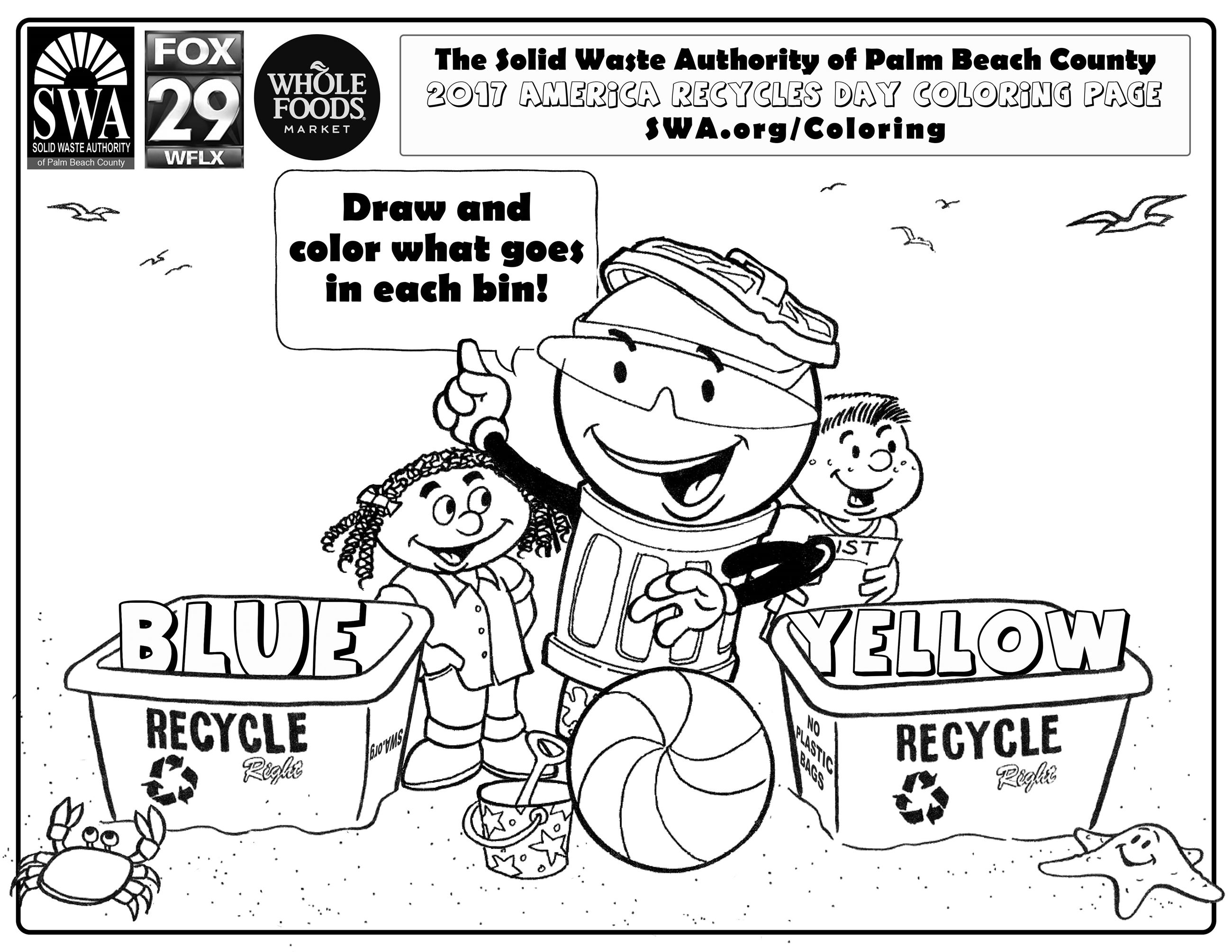 2017 SWA America Recycles Day Coloring Contest | Solid Waste ...