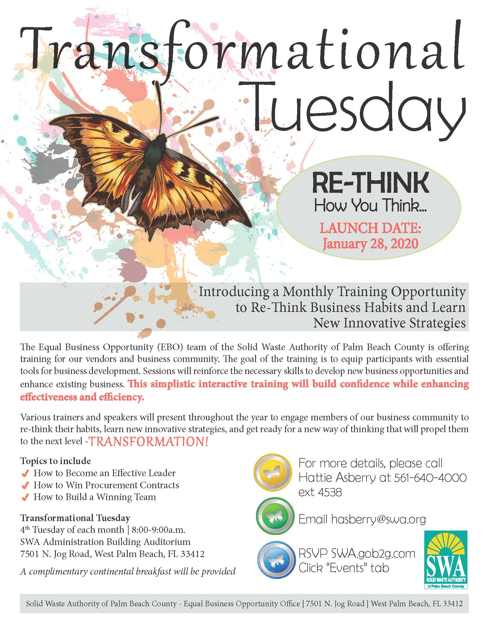 Transformational Tuesday Flyer